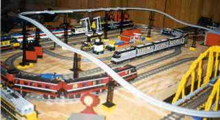 Display included a loop of monorail.